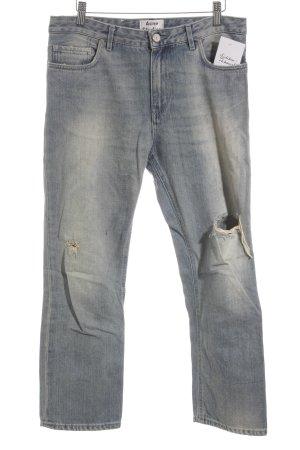 Acne Studios Boot Cut Jeans himmelblau-creme Bleached-Optik