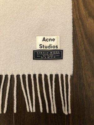 Acne Sciarpa di lana beige chiaro
