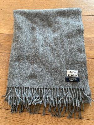 Acne Fringed Scarf dark grey