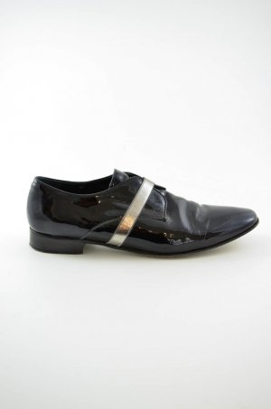 Acne Low Shoes black-silver-colored leather