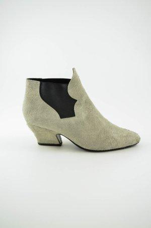 ACNE STUDIOS Damen Stiefelette Mod.Alma Boots Wildleder Hellbeige Schwarz Gr.39