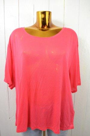 ACNE STUDIOS Damen T-Shirt Shirt Rot-Pink Rundhals Kurzarm 100% Tencel Gr.L
