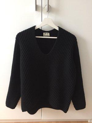 Acne Oversized Sweater black wool