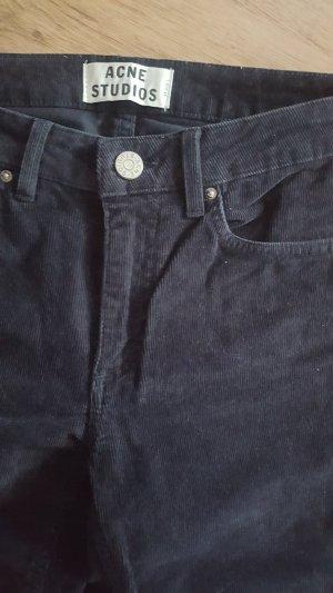 Acne Corduroy Trousers dark blue