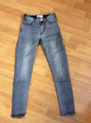 Acne Jeans skinny grigio ardesia
