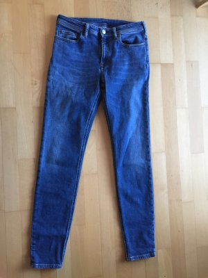 Acne Jeans cigarette bleu
