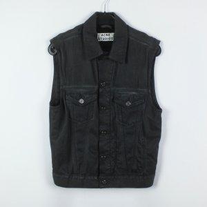 Acne Smanicato jeans grigio scuro Cotone