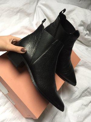 Acne Studios Jensen Grain Boots Stiefeletten 36 schwarz