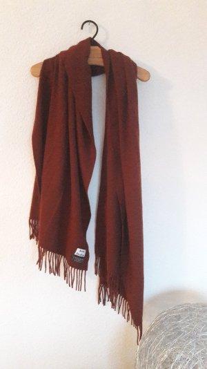 Acne Studios Knit Virgin Wool Scarf Oversize XXL Schal Fransen Karminrot
