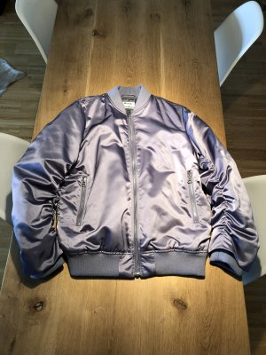 Acne Bomber Jacket purple mixture fibre