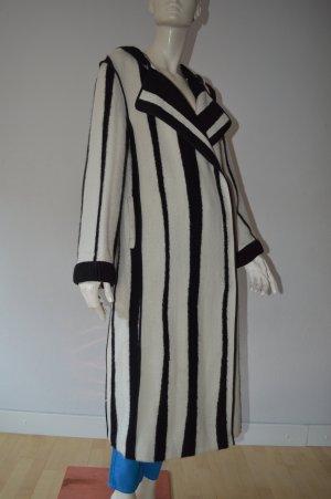 Acne Manteau en laine blanc-noir laine