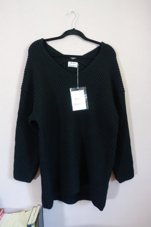 Acne Long Sweater black wool