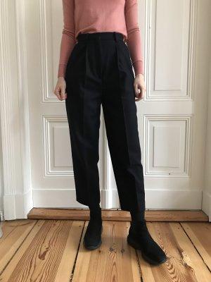 Acne Wollen broek donkerblauw