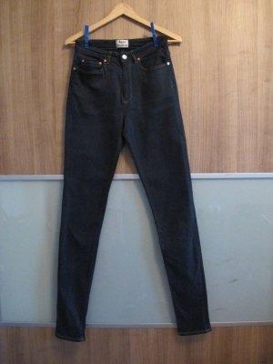 Acne Jeans taille haute bleu foncé