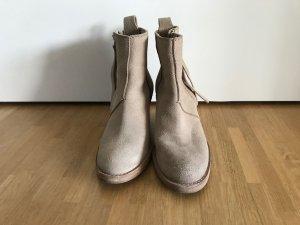 ACNE STUDIOS Pistol Ankle Boots Beige Wildleder Stiefel