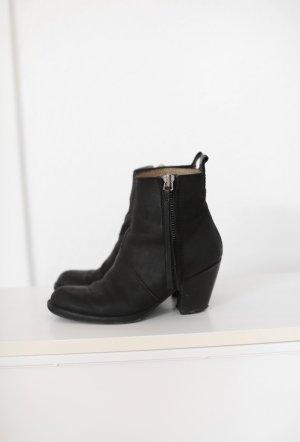 ACNE Studios Pistol Boots Stiefeletten schwarz Echtes Leder Gr. 37/38 Original