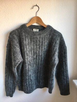 Acne Wool Sweater grey-white