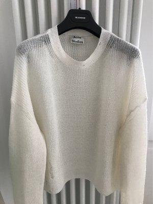 ACNE STUDIOS PULLOVER bewusst aus Used gemacht mit Lochmuster / 34 / xxs / Creme / beige / Aisha Alpaca Sweater