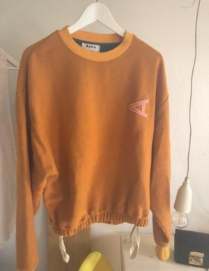 Acne Pull ras du cou orange clair