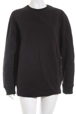 Acne Studios Jersey de cuello redondo negro look Street-Style