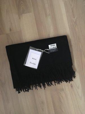 Acne Studios Schal Scarf schwarz Black Virgin Wool Wolle Unisex NEU