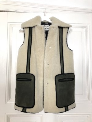 Acne Gilet en fourrure multicolore