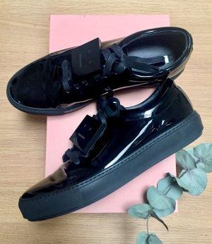 Acne Studios Sneaker Adriana Lackleder neuwertig schwarz