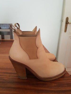 Acne Slip-on Booties cream-beige