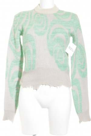 Acne Studios Strickpullover abstraktes Muster Destroy-Optik