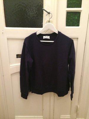 Acne Studios Sweater in Dunkelblau mit Schlitzen an der Seite Pullover