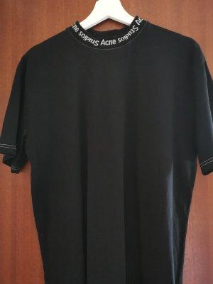 Acne T-Shirt white-black