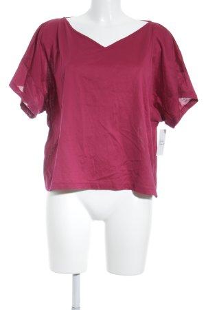 Acne Studios T-Shirt magenta schlichter Stil