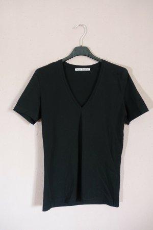Acne T-shirt nero Cotone
