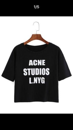 Acne Studios t-shirt schwarz logo print