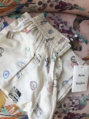 Acne Pantalone Marlene beige chiaro-bianco sporco