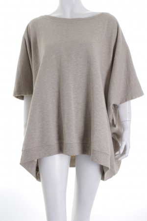 Acne Sweatshirt hellgrau meliert Street-Fashion-Look