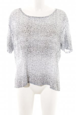 Acne T-shirt grigio chiaro-bianco motivo a pallini stile casual