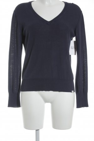 Acne V-Ausschnitt-Pullover dunkelblau Casual-Look