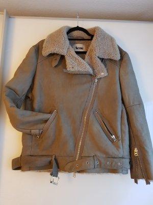 Acne Fur Jacket taupe-grey brown
