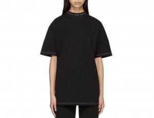 Acne Oversized Shirt black-dark grey