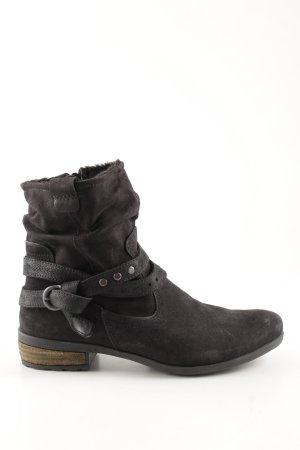 Aco Reißverschluss-Stiefeletten schwarz Casual-Look