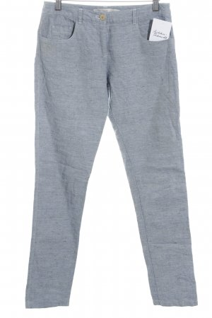 Acoté Drainpipe Trousers azure flecked simple style
