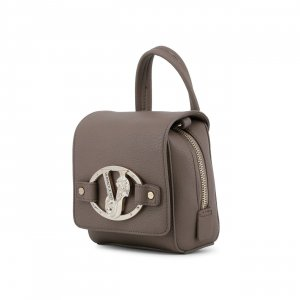 Versace Mini Bag grey brown imitation leather