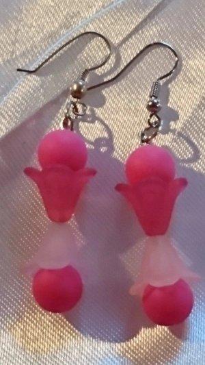 Pendientes colgante rosa-rosa
