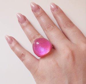Acrylring - Pink mit blauem Schimmer