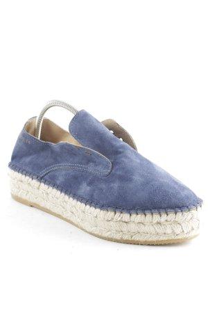 Act. Espadrilles-Sandalen blau schlichter Stil