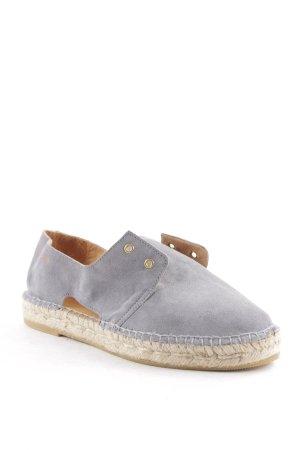 Act. Espadrilles-Sandalen grau schlichter Stil
