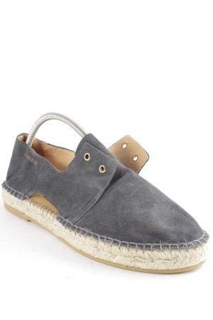 Act. Espadrille sandalen leigrijs simpele stijl