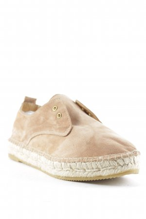 Act. Espadrille sandalen nude simpele stijl