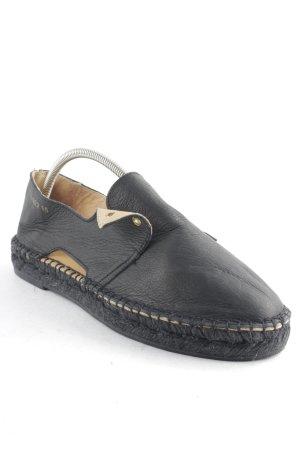 Act. Espadrilles-Sandalen schwarz schlichter Stil